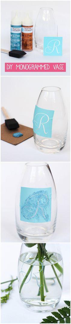 DIY Monogrammed Vase