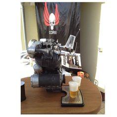 Zapfanlage Harley Davidson Motor Bierkühler Bierzapfanlage  Durchlaufkühler