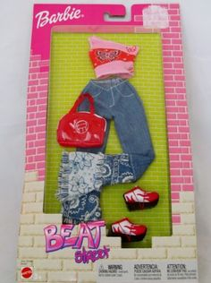 Barbie Fashion Avenue Beat Street Pink Top Blue Jeans New in Box   eBay