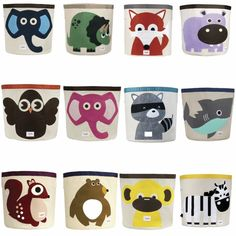 These bright, beautiful animal character storage bins from 3 Sprouts are the ideal way to keep your children's rooms neat, tidy and organised. | https://tinytotsbabystore.com/nursery/nursery-storage/3-sprouts-storage-bin/ #Free Shipping