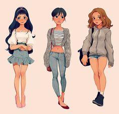 Left - Letty, Alexandria, Yasmine - Right
