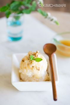 How to make Makgeolli (Korean Rice Wine) Ice Cream without an Ice Cream Machine. Lightly sweet with a slightly sour taste of makgeolli that melts in your mouth with a perfectly velvety, creamy texture.