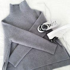 Grey turtleneck Stan Smith Adidas
