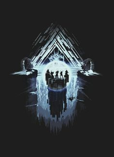 A Fireteam of Guardians Enters the  Vault of Glass.