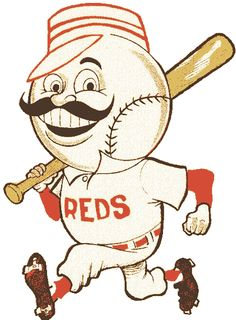 Mr. Redlegs! Made his first appearance on a Reds uniform as a sleeve patch in 1955. Moved to the breast of the road jersey in 1956 then removed altogether in 1957.