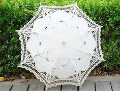Retro Handmade Cotton Parasol Lace Umbrella Wedding Bridal Wedding Props