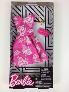 2018 New Barbie Fashionistas Pink Floral Party Dress Fashion Pack w/Accessories Barbie Mermaid Doll, Barbie Doll Set, Barbie Sets, Doll Clothes Barbie, Barbie Dream, Barbie Outfits, Hollister Style, Barbie Fashionista Dolls, Barbie Doll Accessories