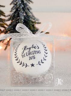 liebevoll, personalisierte Weihnachtskugel von Homely-TW