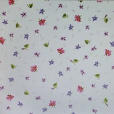 Adalees Garden~Tiny Flowers on Cream~Floral Cotton Fabric, Quilt,~Red Rooster~Fast Shipping F598