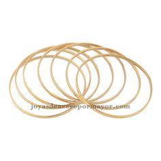 7 piezas pulseras dorado en acero inoxidable dorado
