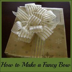 How to make a fancy bow with ribbon and wire