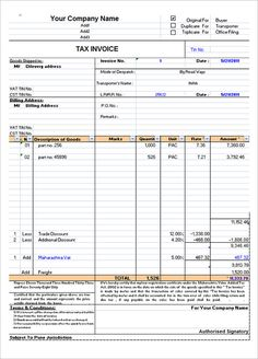 7 Best Invoice Format Images Pdf Invoice Format In Excel Invoice