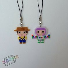 Woody and Buzz Toy Story perler beads by pplasticpixel