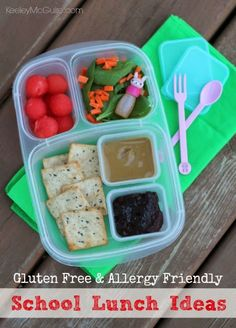 Homemade Lunchable with SunButter & Jelly | packed in @EasyLunchboxes containers #AllergyFriendly #GlutenFree