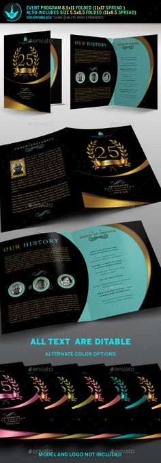 Royal Birthday Celebration Event Program Template Program - Auction brochure template