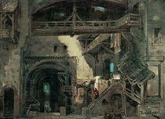 """ Parsifal "" 2.Aufzug 1.Bild   1882  Entwurf Max Brückner"