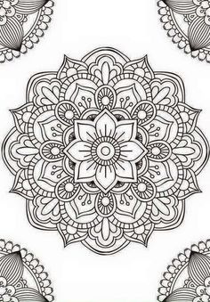 Mandala fleur simple unique doodle art doodle it. Mandala Art, Mandala Design, Mandalas Painting, Mandalas Drawing, Mandala Coloring Pages, Mandala Pattern, Zentangle Patterns, Dot Painting, Adult Coloring Pages