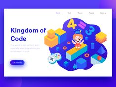 Kindoms Of Code designed by 小渔 for Panda Plus. Connect with them on Dribbble; 4 Kingdoms, Saint Charles, App Ui, Show And Tell, Dear Friend, Banner, Coding, Banner Stands, Banners