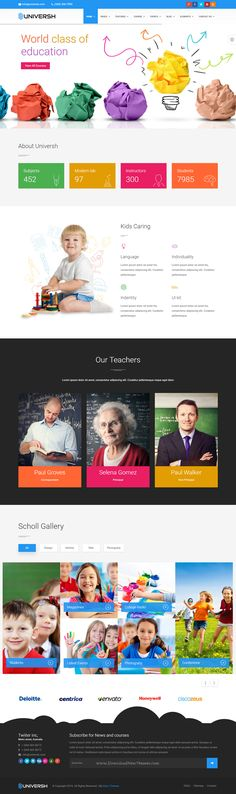 Universh - Material Education, Events, News, Learning Center & Kid School Multipurpose Bootstrap HTML Template #daycare #kindergarten #website