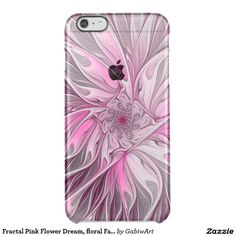 Fractal Pink Flower Dream, floral Fantasy Pattern Clear iPhone 6 Plus Case
