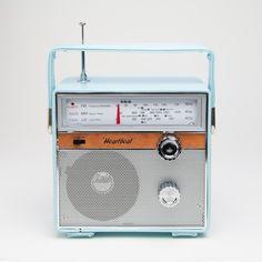 Heartbeat 1960's Retro Style Portable AC-DC Radio