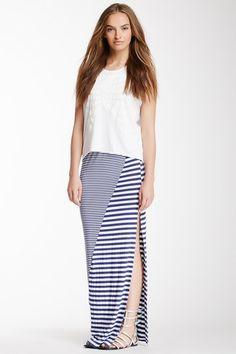 Anama Mixed Stripe Maxi Skirt by AnM & Anama on @HauteLook