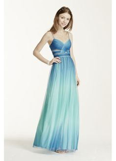 Spaghetti Strap Cutout Ombre Ball Gown 211S68480 $39.99