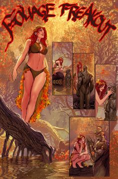 Poison Ivy and Swamp Thing - Harley Quinn Annual #1 | Foliage freakout. Art by Nebezial