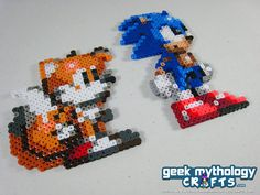Sonic the Hedgehog and Miles Tails Prower by GeekMythologyCrafts, $10.00