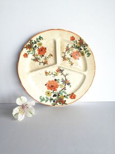 Vintage 1930's Thompson Divided Grill Plate by SandHollowVintage