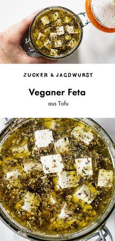 Veganer Feta aus Tofu #käse #vegan #rezept #einfach Vegan Feta Cheese, Vegan Cheese Recipes, Vegan Breakfast Recipes, Vegan Recipes Easy, Vegetarian Recipes, Vegan Ideas, Best Tofu Recipes, Best Vegan Cheese, Diet Recipes