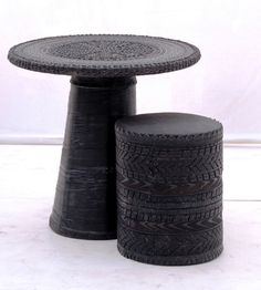 Table Recycled Tire www.khmissadesign.com