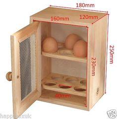 Wooden Egg Cupboard Cabinet Storage Rack Holder Chic Shabby Hevea Wood Mesh Door