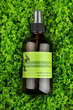 Moisturizing Body Mist  - Spritz this moisturizing mist on any time you want to refresh and relax.  It will absorb quickly but leave you well moisturized.  Antioxidants make sure your skin is protected.  Organic, 100% Natural, Customizable for your needs!