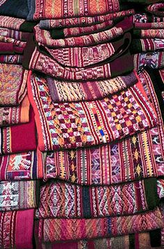 Wonderfully crafted blankets in South America!