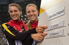Feb 2015: Andrea Petkovic (links) startet in Stuttgart beim Fed Cup für Deutschland im Einzel. Foto: dpa http://www.stuttgarter-zeitung.de/inhalt.fed-cup-in-stuttgart-petkovic-startet-im-einzel.38288453-cff7-442c-a0f1-9362ebf6024b.html