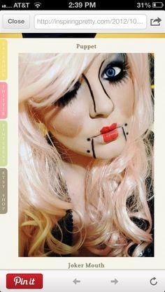 Marionette costume face paint