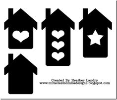 Free house svg cutting file, by Heather Landry #Silhouette #CutFile