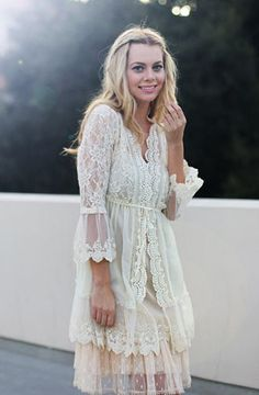 Lacy Clothing For Women Boho Women s Shabby Chic Lace Frock