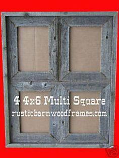 Old barn wood frame - Wood Crafts Barn Wood Crafts, Barn Wood Projects, Old Barn Wood, Reclaimed Wood Projects, Salvaged Wood, Pallet Projects, Rustic Picture Frames, Rustic Frames, Wooden Picture