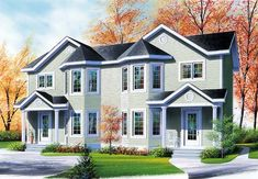 Duplex Plan chp-46260 at COOLhouseplans.com