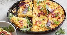 Bacon mac and cheese zucchini slice Baby Food Recipes, Easy Dinner Recipes, Pasta Recipes, Cooking Recipes, Healthy Recipes, Savoury Recipes, Quiche Recipes, Noodle Recipes, Easy Dinners