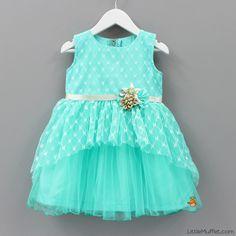 Turquoise Dress - Toddler & Girls