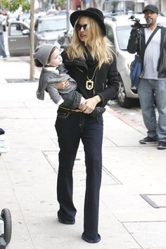 Rachel Zoe takes baby Skyler shopping in Beverly Hills