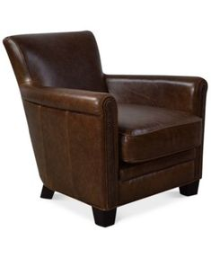 Norwell Leather Chair   macys.com