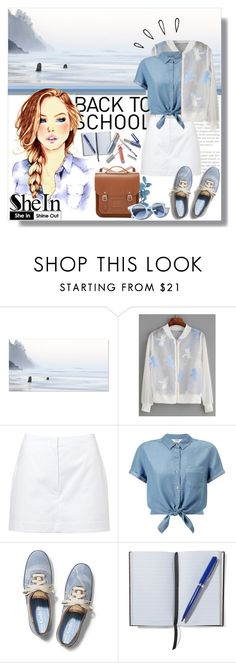 """""""SheIn - White Organza Jacket"""" by angelstylee ❤ liked on Polyvore featuring Drew Doggett Photography, WithChic, Alaïa, Miss Selfridge, Keds, Smythson, The Cambridge Satchel Company, Pinko and Old Navy"""