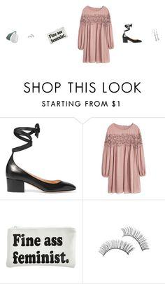 """""""Untitled #482"""" by tatteredmelody ❤ liked on Polyvore featuring Gianvito Rossi, MANGO and Married to the Mob"""