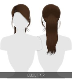 Sims 4 Hairs ~ Simpliciaty: Ellie hair Simpliciaty: Ellie hair for Sims 4 Sims 4 Mods, Sims 3, Sims Four, The Sims 4 Pc, Maxis, Hair Direct, The Sims 4 Cabelos, Pelo Sims, Sims4 Clothes