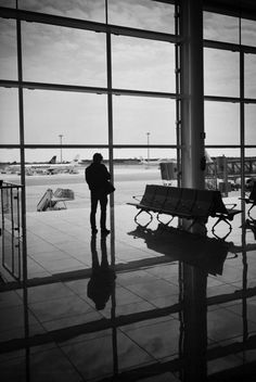 airports...because they include a fascinating array of people with different stories leading to a feeling of mystery and intrigue. They also represent adventure and events to come. Plus I just simply love travelling.