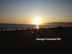 Sunset from the Santa Monica Pier. Photo by, George Vreeland Hill Santa Monica, California, Sunset, Beach, Water, Outdoor, Sunsets, Gripe Water, Outdoors